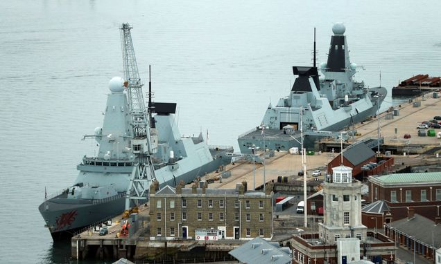 All Navy Type 45 destroyers in port