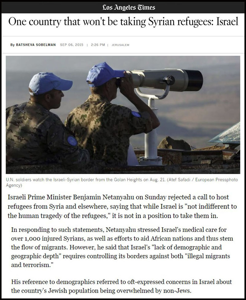 Los-Angeles-Times-Israel-No-Refugees