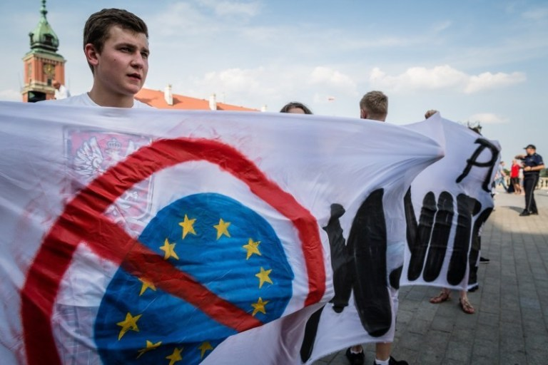 POLAND-IMMIGRANTS-RIGHT-WING-DEMOMONSTRATION